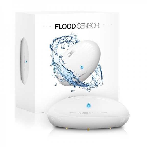 Sensor de inundación de Fibaro Flood Sensor Z-Wave+ FGFS-101 ZW5