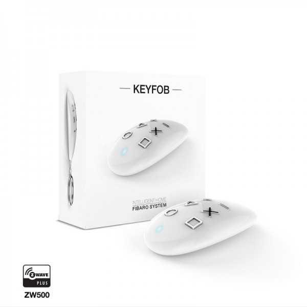 FIBARO FIBARO Keyfob – Mando a distancia formato llavero Z-Wave Plusbutton - Botón Z-Wave+ de Fibaro